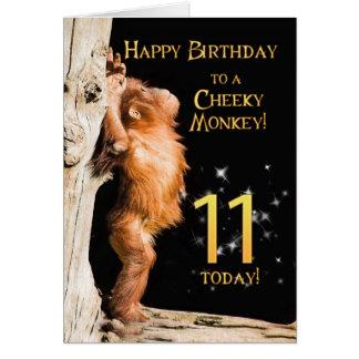 Cartes Âge effronté 11 de singe