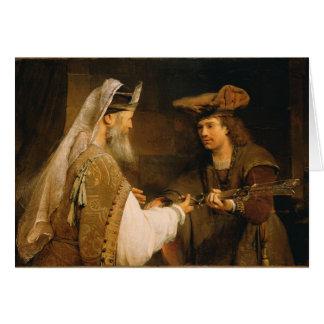 Cartes Ahimelech donnant l'épée de Goliath à David