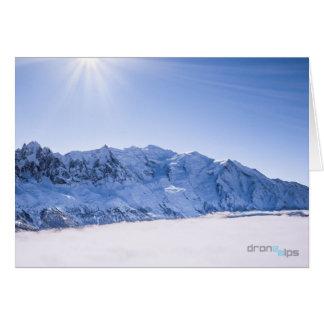 Cartes Aiguille du Midi et Mont Blanc - au-dessus des