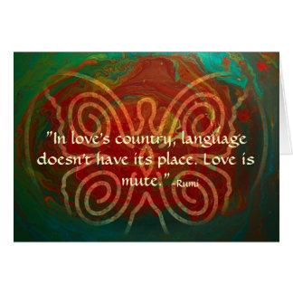 Cartes Ailes du l'Amour-Rumi et de l'art poétique