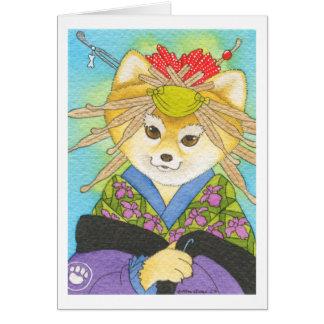 Cartes Aimant de Kabuki Shiba Inu