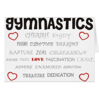 Cartes Aimez la gymnastique