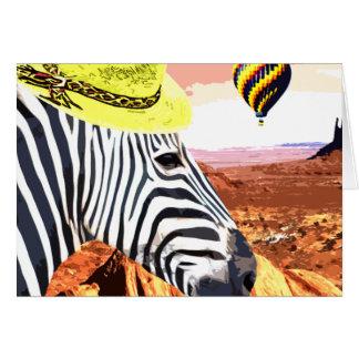 Cartes Ainsi un zèbre voyage au désert