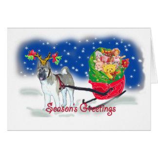 Cartes AKITA_Christmas_Sleigh