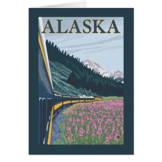 Cartes AlaskaRailroad et voyage vintage de Fireweed