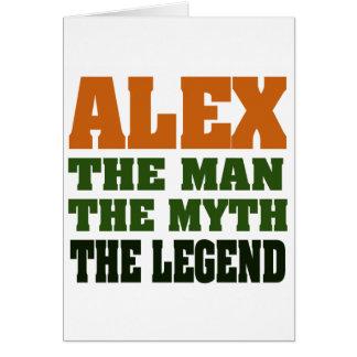 Cartes Alex - l'homme, le mythe, la légende !