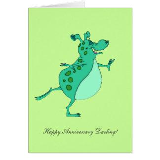 Cartes Alien vert sautant - chouchou heureux
