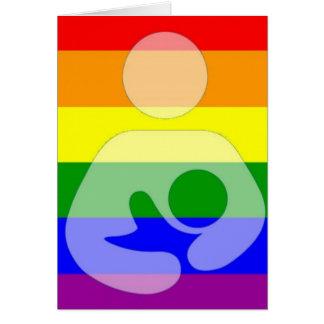 Cartes Allaiter de gay pride/soins