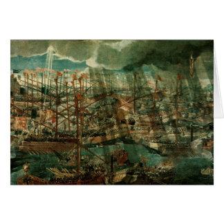Cartes Allégorie de la bataille de Lepanto