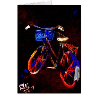 Cartes Aller à vélo, bonnes fêtes