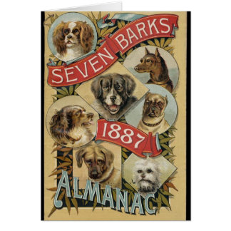Cartes Almanach 1887 d'écorces du cru sept,