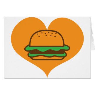 Cartes Amant d'hamburger