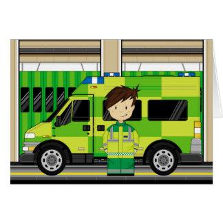 Cartes Ambulance de bande dessinée et EMT
