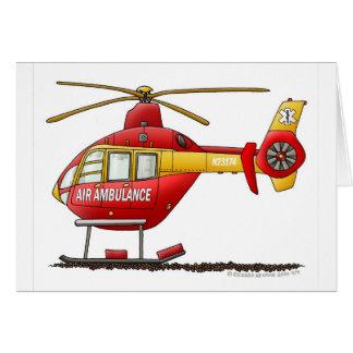 Cartes Ambulance médicale d'hélicoptère de délivrance de