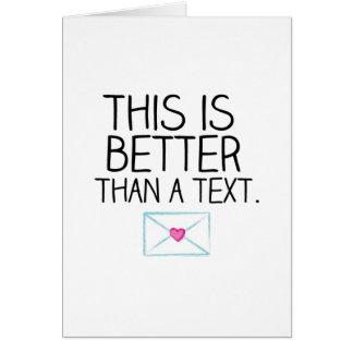 Cartes Améliorez qu'un texte