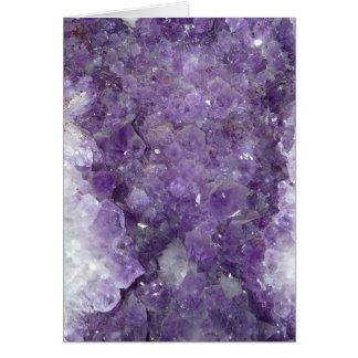 Cartes Améthyste Geode - pierre gemme en cristal violette