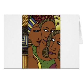 Cartes Amies de soeur de femmes d'Afro-américain