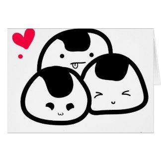 Cartes amis d'onigiri