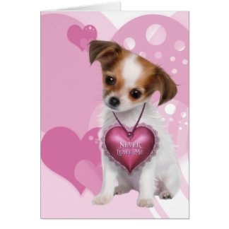 Cartes Amour de chiot de chiwawa Valentine