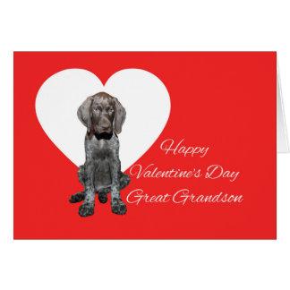 Cartes Amour de chiot grisâtre brillant de Valentine