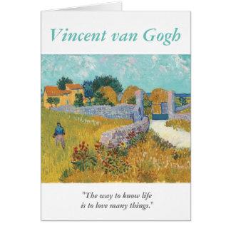 Cartes Amour de citation d'artiste de Van Gogh beaucoup