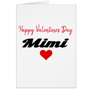Cartes Amour de coeur de la grand-maman Mimi de heureuse
