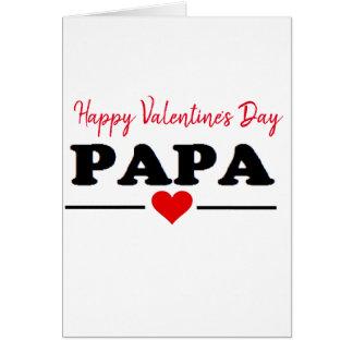 Cartes Amour de coeur de papa de heureuse Sainte-Valentin