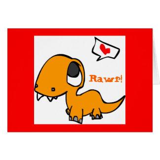 Cartes amour de dinosaure