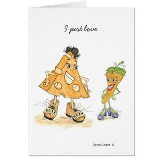 Cartes Amour de fromage et de poivre