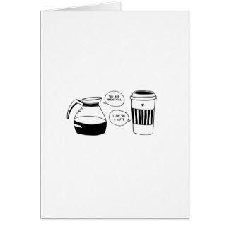 Cartes Amour de Latte Valentine de café