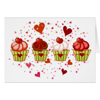 Cartes Amour de petit gâteau