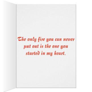 Cartes Amour de sapeur-pompier