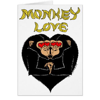 Cartes Amour de singe - vous m'incitez à aller des