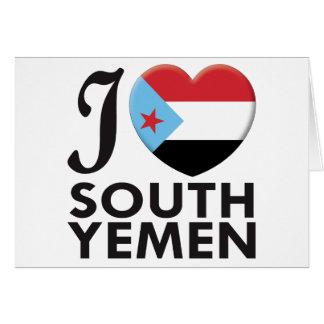 Cartes Amour de Yémen du sud