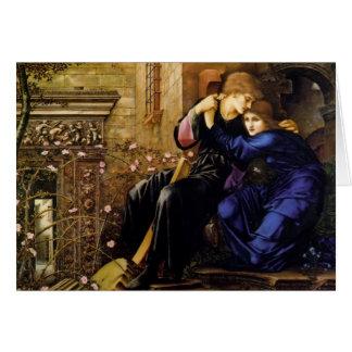 Cartes Amour d'Edouard Burne-Jones parmi les ruines