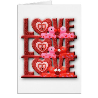 Cartes Amour Duckies (blanc)