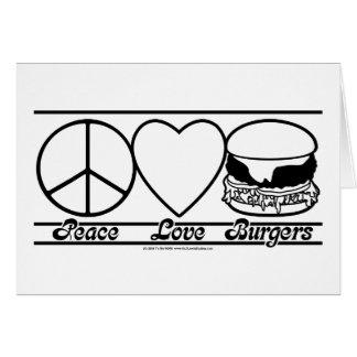 Cartes Amour et hamburgers de paix