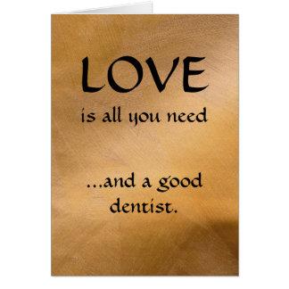 Cartes Amour et un bon dentiste