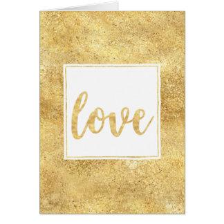 Cartes Amour étincelant blanc d'or