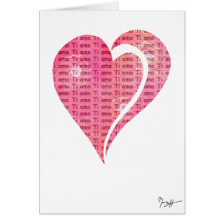 Cartes Amour international - Italien