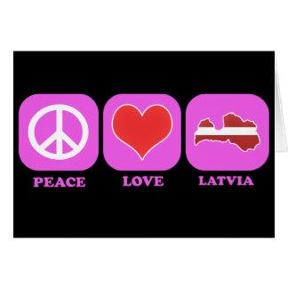 Cartes Amour Lettonie de paix