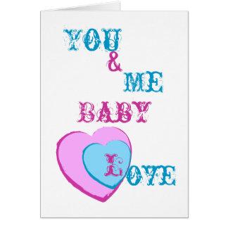 Cartes Amour-Personnaliser de bébé