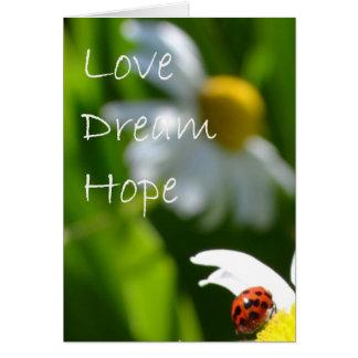 Cartes Amour, rêve, espoir