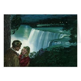 Cartes Amour vintage de lune de miel, nouveaux mariés aux