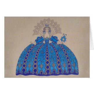 Cartes Amour vintage de robe de peinture d'art de ~ de