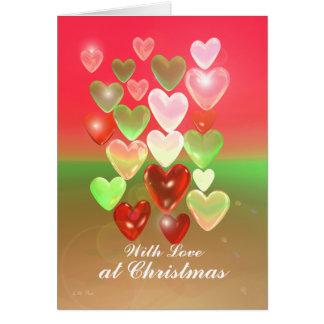 Cartes Amoureux de Noël avec amour