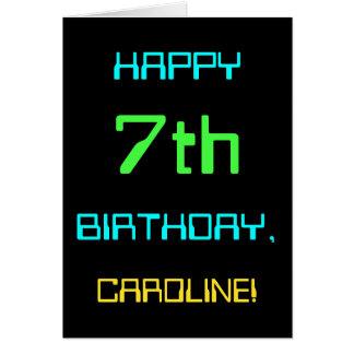 Cartes Amusement Digital calculant le 7ème anniversaire