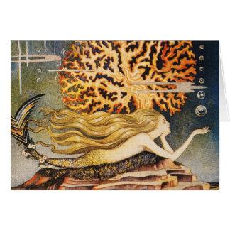 Cartes Andersen : Petit dessin de sirène