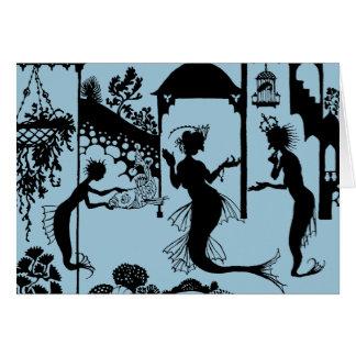 Cartes Andersen : Petite silhouette de sirène