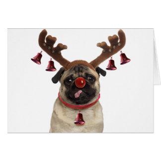 Cartes Andouillers de carlin - carlin de Noël - Joyeux